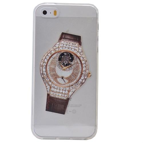 Teleplus İphone 6S Plus Saat Desenli Silikon Kılıf 8