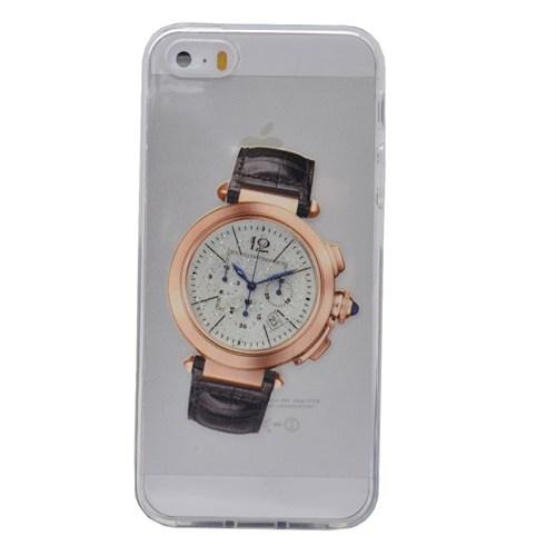 Teleplus İphone 6 Saat Desenli Silikon Kılıf 5