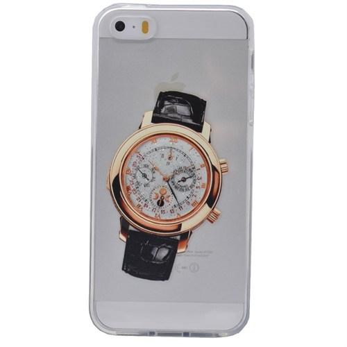Teleplus İphone 6 Plus Saat Desenli Silikon Kılıf 1