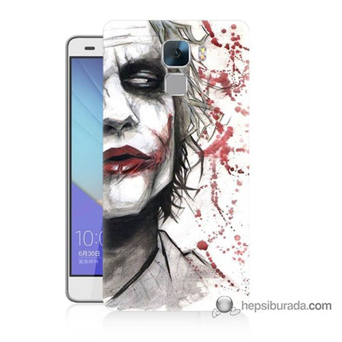 Teknomeg Huawei Honor 7 Kapak Kılıf Kanlı Joker Baskılı Silikon