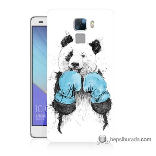 Teknomeg Huawei Honor 7 Kılıf Kapak Boksör Panda Baskılı Silikon