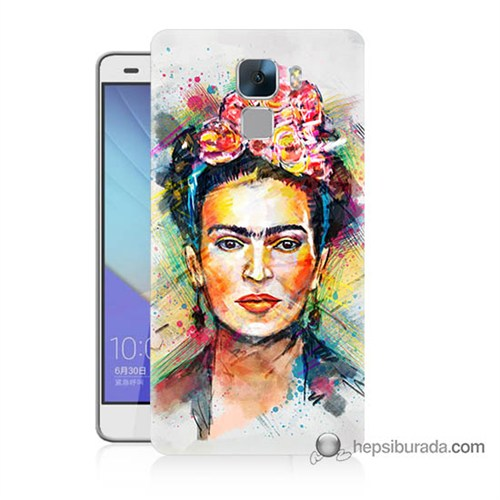 Teknomeg Huawei Honor 7 Kapak Kılıf Frida Baskılı Silikon