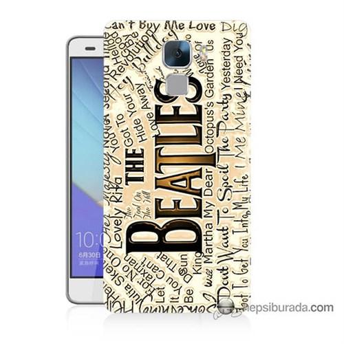 Teknomeg Huawei Honor 7 Kılıf Kapak The Beatles Baskılı Silikon