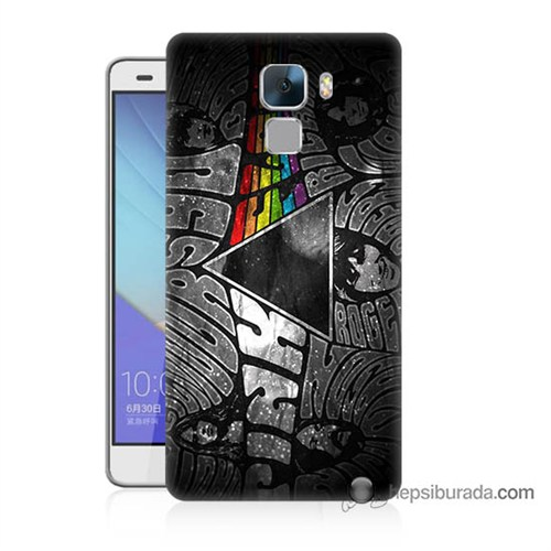 Teknomeg Huawei Honor 7 Kapak Kılıf Pink Floyd Baskılı Silikon