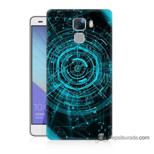 Teknomeg Huawei Honor 7 Kapak Kılıf Asit Baskılı Silikon