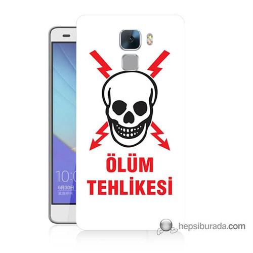 Teknomeg Huawei Honor 7 Kapak Kılıf Ölüm Tehlikesi Baskılı Silikon