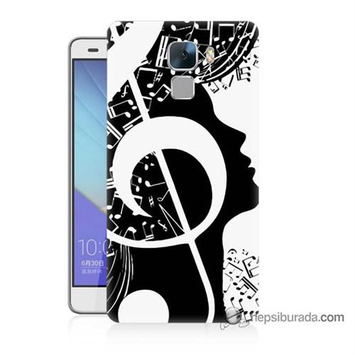 Teknomeg Huawei Honor 7 Kapak Kılıf Notalar Baskılı Silikon