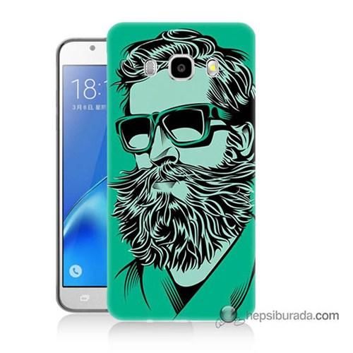 Teknomeg Samsung J5 2016 Kılıf Kapak Beard Art Baskılı Silikon