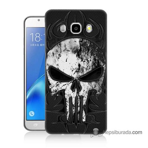 Teknomeg Samsung J5 2016 Kapak Kılıf Punnisher Kurukafa Baskılı Silikon