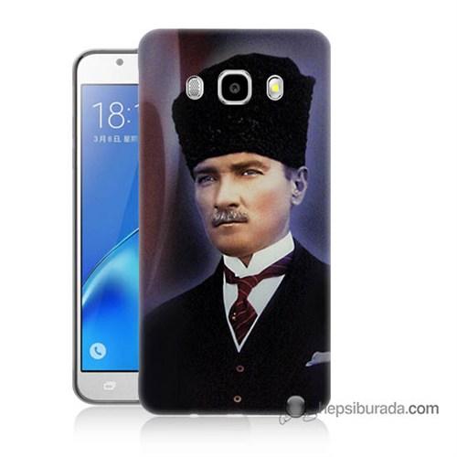 Teknomeg Samsung J5 2016 Kılıf Kapak Mustafa Kemal Atatürk Baskılı Silikon