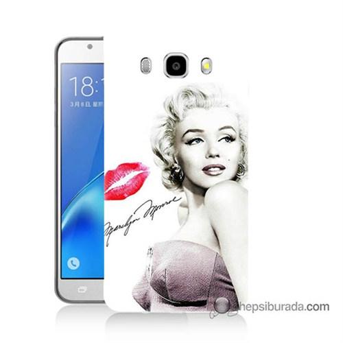 Teknomeg Samsung J5 2016 Kapak Kılıf Marilyn Monroe Baskılı Silikon