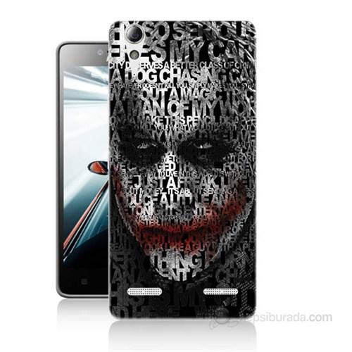 Teknomeg Lenovo A6000 Kapak Kılıf Joker Baskılı Silikon