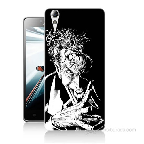 Teknomeg Lenovo A6010 Kapak Kılıf Gülen Joker Baskılı Silikon