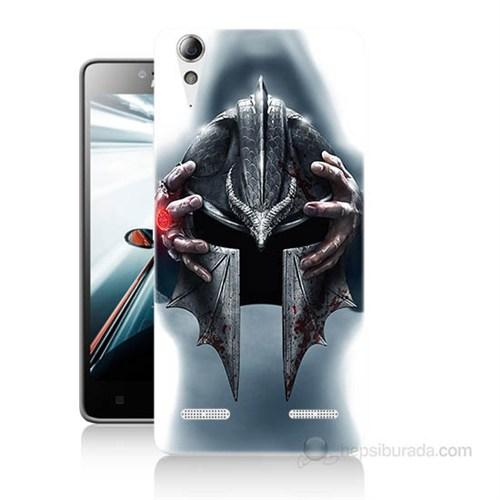 Teknomeg Lenovo A6010 Kılıf Kapak Assassins Creed Baskılı Silikon