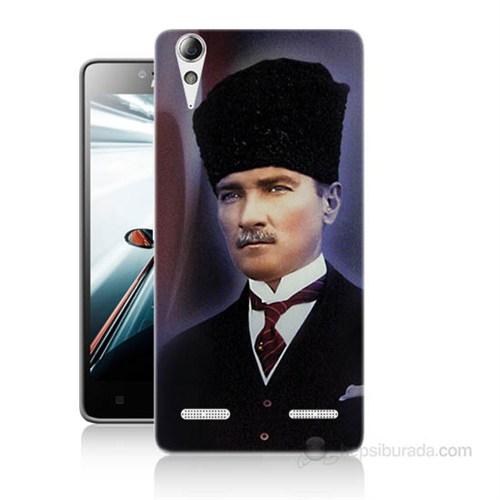 Teknomeg Lenovo A6010 Kılıf Kapak Mustafa Kemal Atatürk Baskılı Silikon