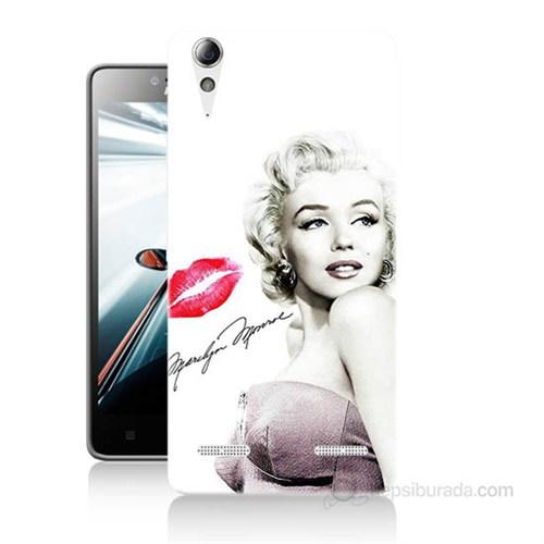 Teknomeg Lenovo A6010 Kapak Kılıf Marilyn Monroe Baskılı Silikon