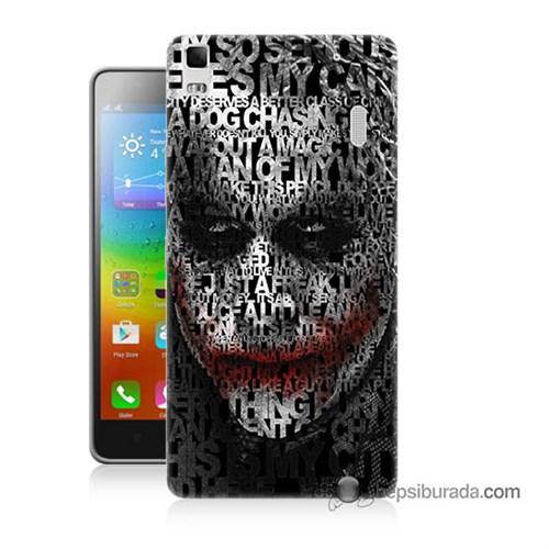 Teknomeg Lenovo A7000 Kapak Kılıf Joker Baskılı Silikon
