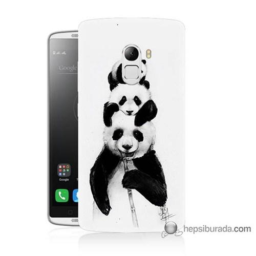 Teknomeg Lenovo A7010 Kapak Kılıf Panda Ailesi Baskılı Silikon