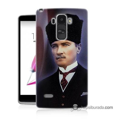 Teknomeg Lg G4 Stylus Kılıf Kapak Mustafa Kemal Atatürk Baskılı Silikon