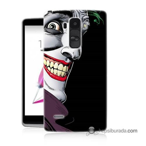 Teknomeg Lg G4 Stylus Kapak Kılıf Joker Baskılı Silikon