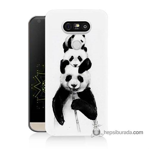 Teknomeg Lg G5 Kapak Kılıf Panda Ailesi Baskılı Silikon