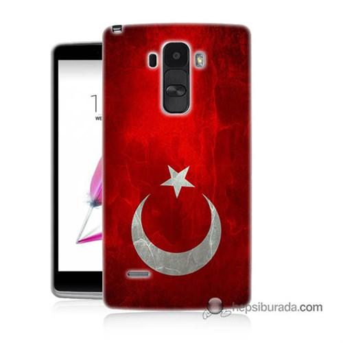 Teknomeg Lg G4 Stylus Kılıf Kapak Türkiye Bayrağı Baskılı Silikon