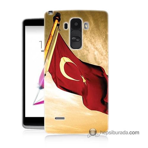 Teknomeg Lg G4 Stylus Kılıf Kapak Türk Bayrağı Baskılı Silikon