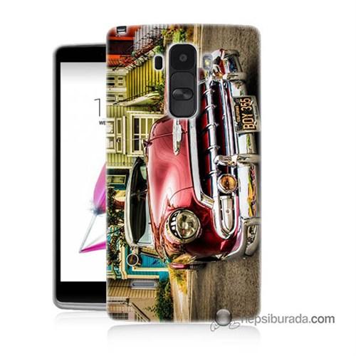 Teknomeg Lg G4 Stylus Kapak Kılıf Klasik Araba Baskılı Silikon