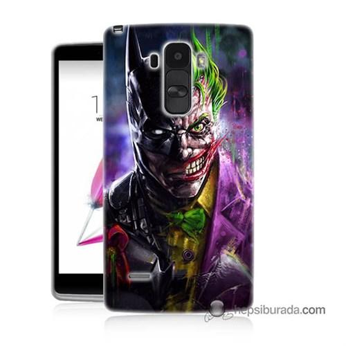 Teknomeg Lg G4 Stylus Kılıf Kapak Batman Vs Joker Baskılı Silikon