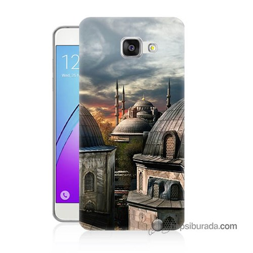 Teknomeg Samsung Galaxy A3 2016 Kapak Kılıf Cami Baskılı Silikon