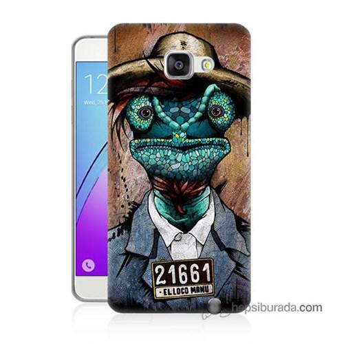 Teknomeg Samsung Galaxy A3 2016 Kılıf Kapak İguana Adam Baskılı Silikon