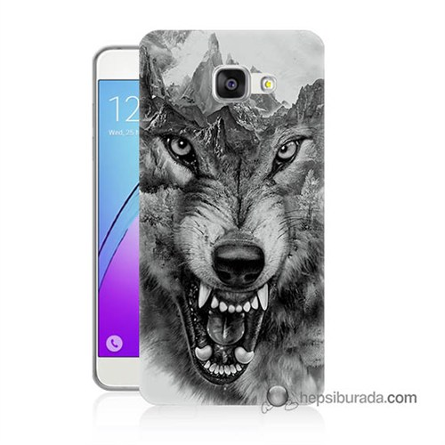 Teknomeg Samsung Galaxy A3 2016 Kapak Kılıf Kızgın Kurt Baskılı Silikon