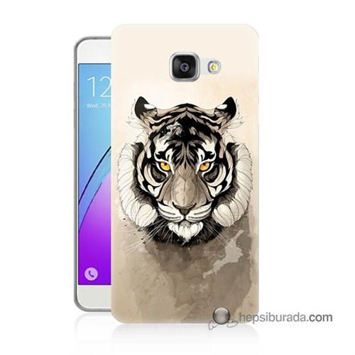 Teknomeg Samsung Galaxy A3 2016 Kapak Kılıf Beyaz Aslan Baskılı Silikon