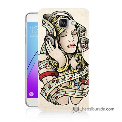 Teknomeg Samsung Galaxy A3 2016 Kapak Kılıf Müzik Aşkı Baskılı Silikon