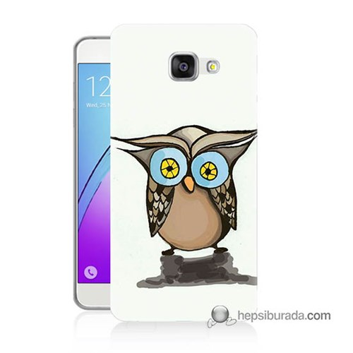 Teknomeg Samsung Galaxy A3 2016 Kapak Kılıf Baykuş Baskılı Silikon