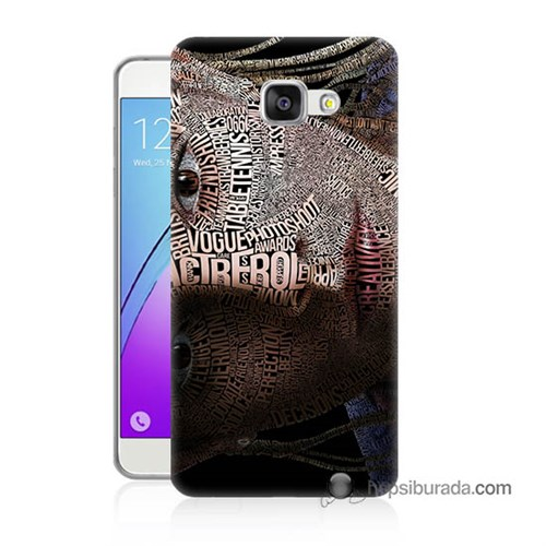 Teknomeg Samsung Galaxy A3 2016 Kılıf Kapak Yazılı Kadın Baskılı Silikon