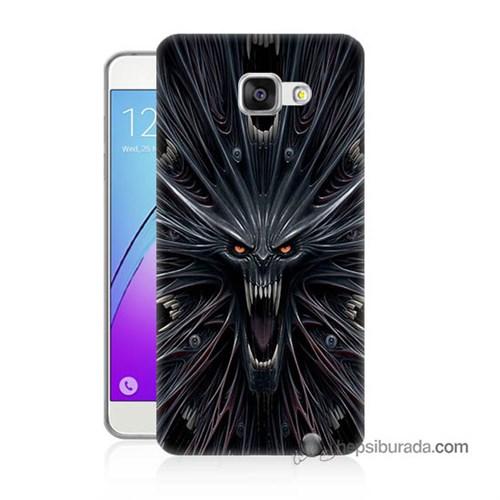 Teknomeg Samsung Galaxy A3 2016 Kılıf Kapak Korku Canavarı Baskılı Silikon