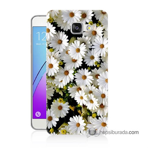 Teknomeg Samsung Galaxy A3 2016 Kılıf Kapak Papatyalar Baskılı Silikon