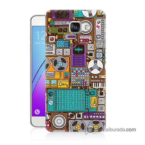 Teknomeg Samsung Galaxy A5 2016 Kılıf Kapak Teknoloji Baskılı Silikon