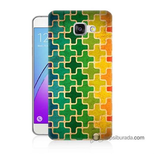 Teknomeg Samsung Galaxy A5 2016 Kapak Kılıf Renkli Artı Baskılı Silikon