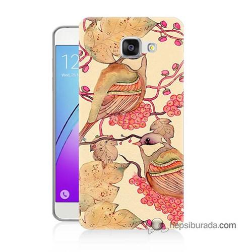 Teknomeg Samsung Galaxy A5 2016 Kılıf Kapak Kuşlar Baskılı Silikon
