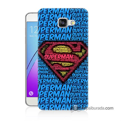 Teknomeg Samsung Galaxy A5 2016 Kapak Kılıf Süpermen Baskılı Silikon