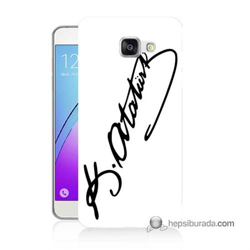 Teknomeg Samsung Galaxy A5 2016 Kılıf Kapak Atatürk İmza Baskılı Silikon