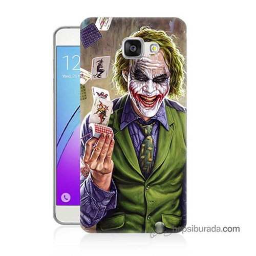 Teknomeg Samsung Galaxy A5 2016 Kılıf Kapak Kartlı Joker Baskılı Silikon