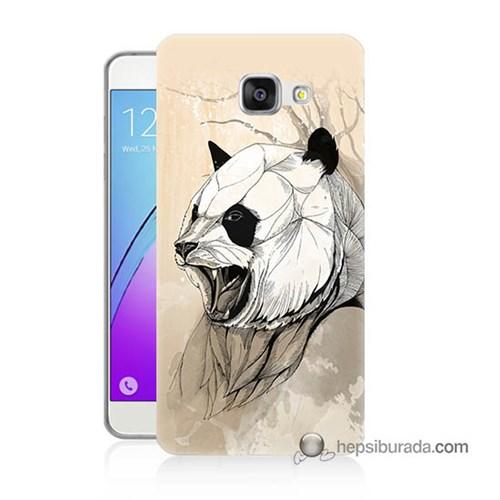 Teknomeg Samsung Galaxy A5 2016 Kapak Kılıf Kavgacı Panda Baskılı Silikon