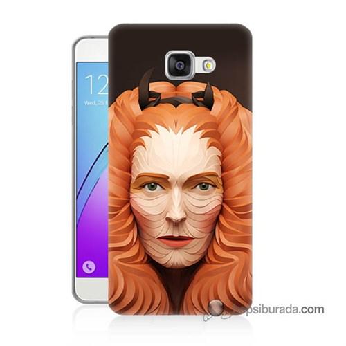 Teknomeg Samsung Galaxy A5 2016 Kapak Kılıf Kabartma Kız Baskılı Silikon