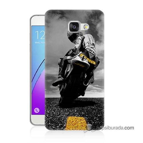 Teknomeg Samsung Galaxy A5 2016 Kapak Kılıf Motorsiklet Baskılı Silikon
