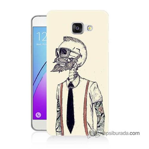 Teknomeg Samsung Galaxy A5 2016 Kapak Kılıf Dövmeli İskelet Baskılı Silikon