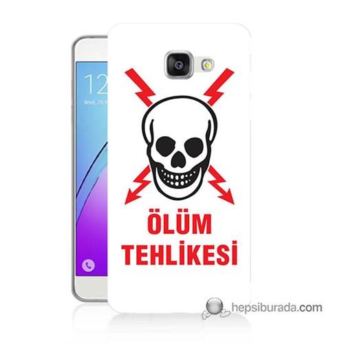 Teknomeg Samsung Galaxy A7 2016 Kapak Kılıf Ölüm Tehlikesi Baskılı Silikon