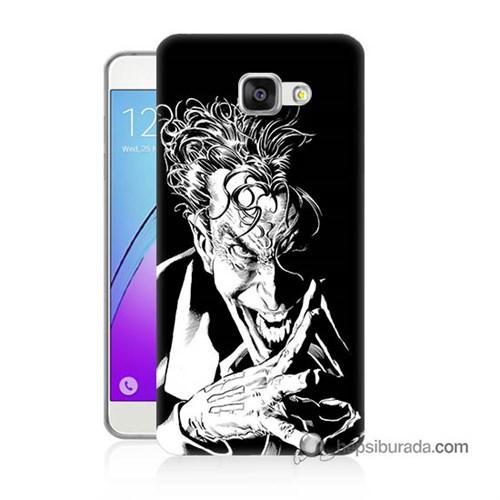 Teknomeg Samsung Galaxy A7 2016 Kapak Kılıf Gülen Joker Baskılı Silikon